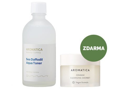 Aromatica - Sea Daffodil Aqua Toner + Mini Orange Cleansing Sherbet - ZDARMA